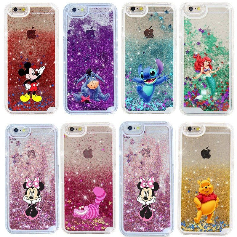 8601ad2f11 Cartoon Characters Liquid Glitter Hard Cover For iPhone | My ...