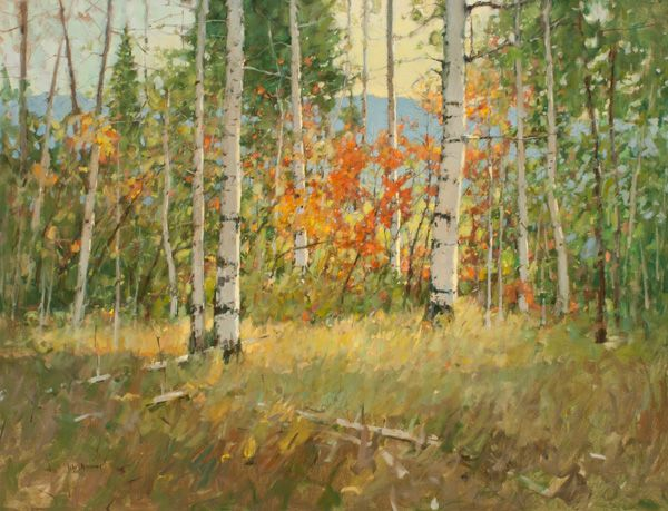 Irby Brown, Chinery Oaks, oil, 54 x 70.