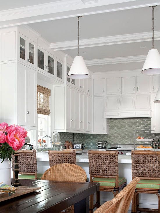 Kitchen decor, Kitchen designs, Kitchen decorating ideas - Beautiful Kitchen!  I love the tile! #backsplash #kitchen