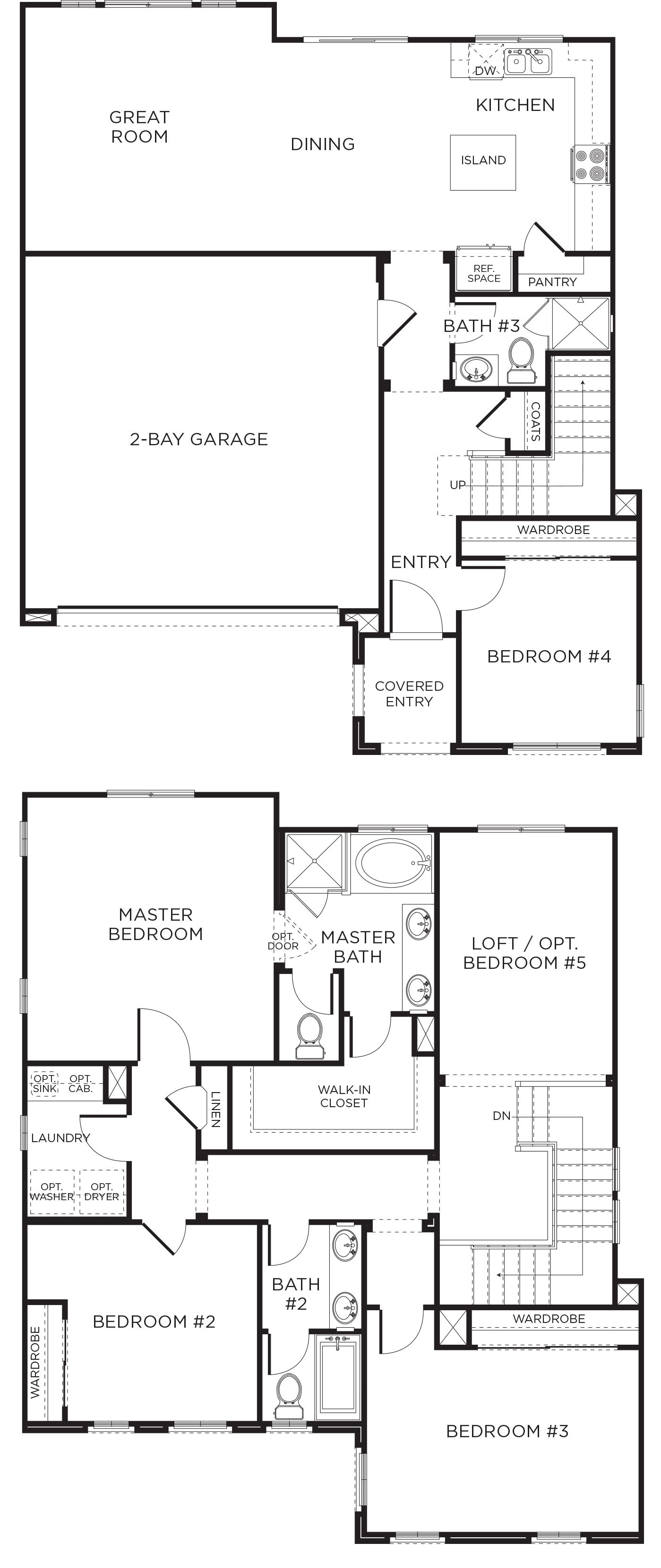 New parkview plan 2ar at ocean view hills homes at - 4 bedroom house for sale san diego ...