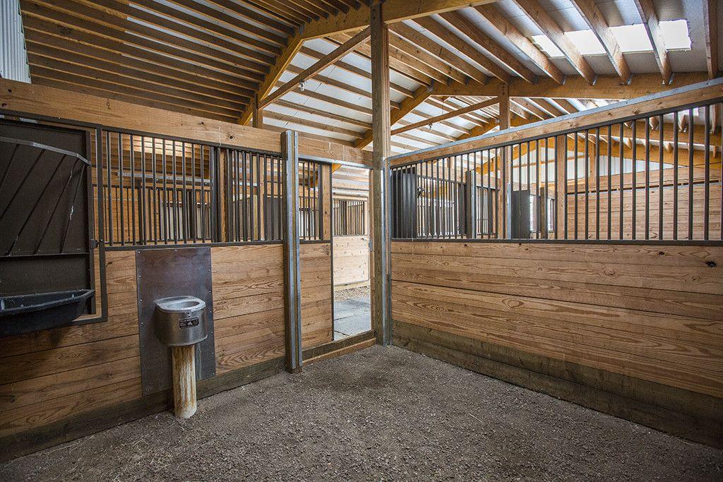 Morton Buildings Horse Barn Interior In Steamboat Springs