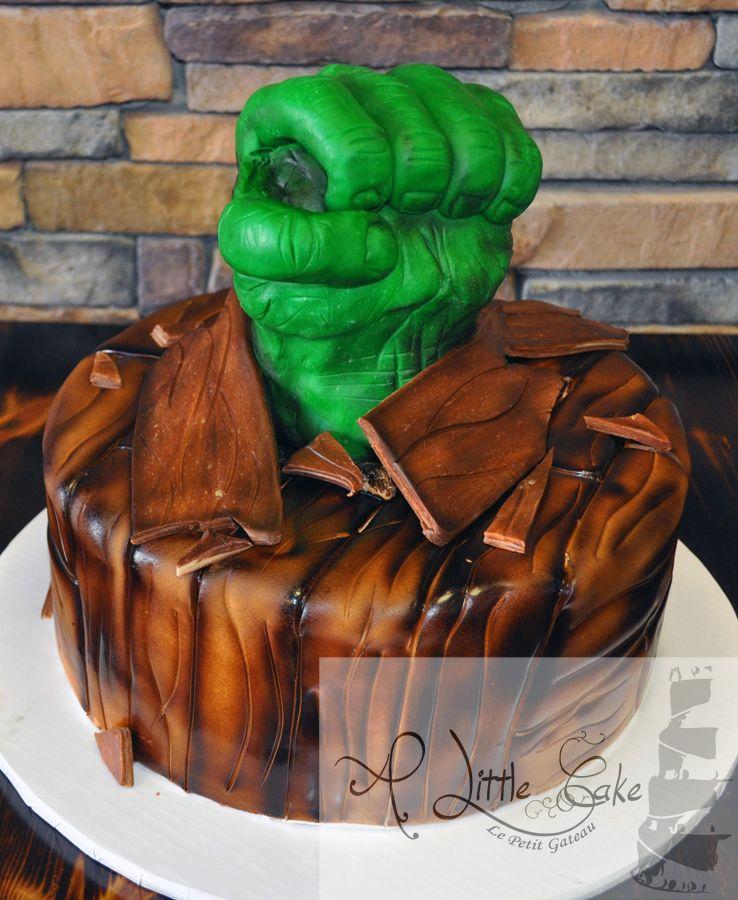 Incredible Hulk Fist Grooms Cake Incredible hulk Cake and Grooms