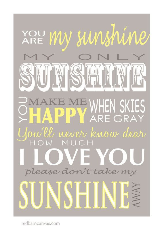 You Are My Sunshine Wall Decor you are my sunshine, my only sunshine, canvas word art, custom art