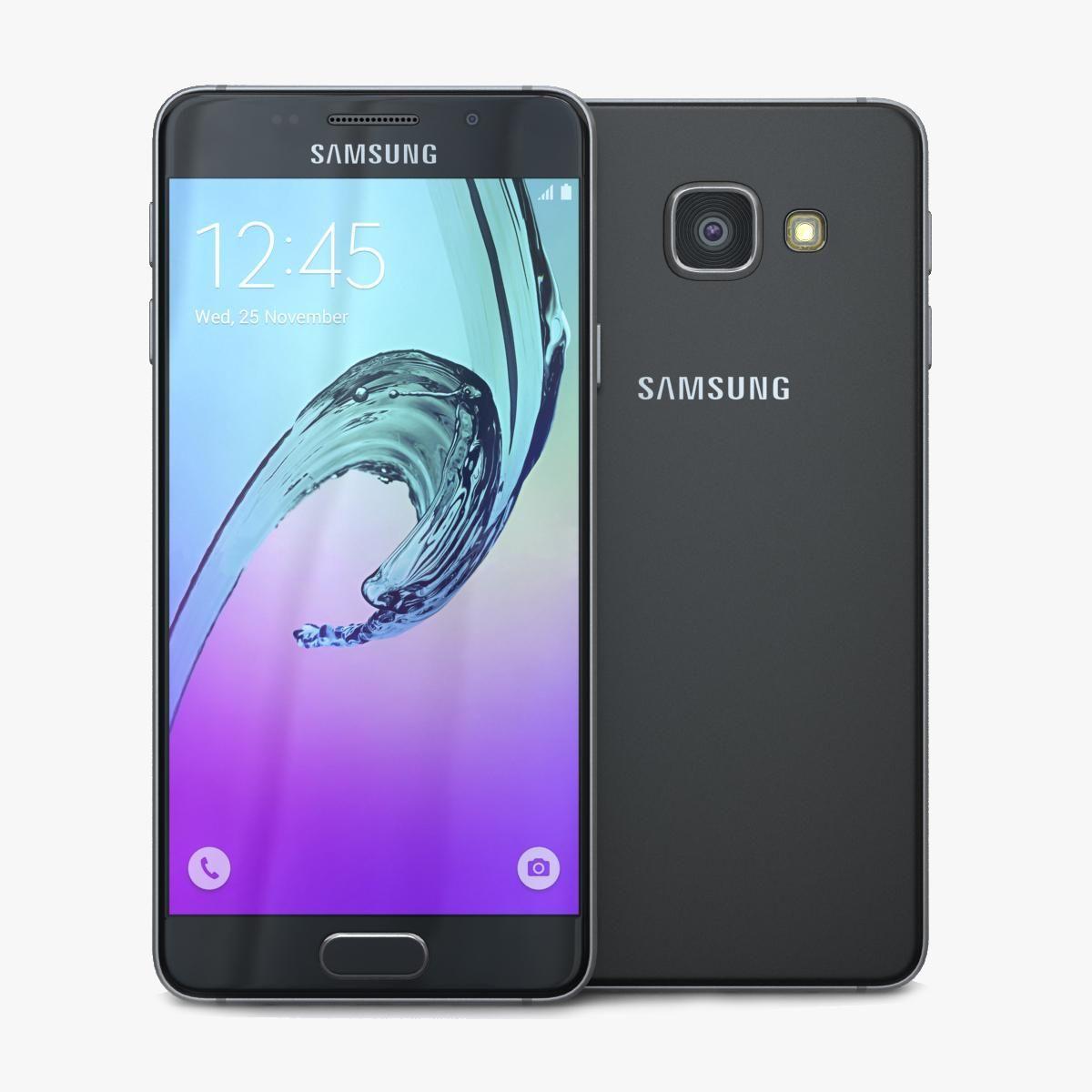 Samsung Galaxy A3 2016 Black 3d Model Ad Galaxy Samsung Model Black Samsung Galaxy Samsung Galaxy A3 Samsung
