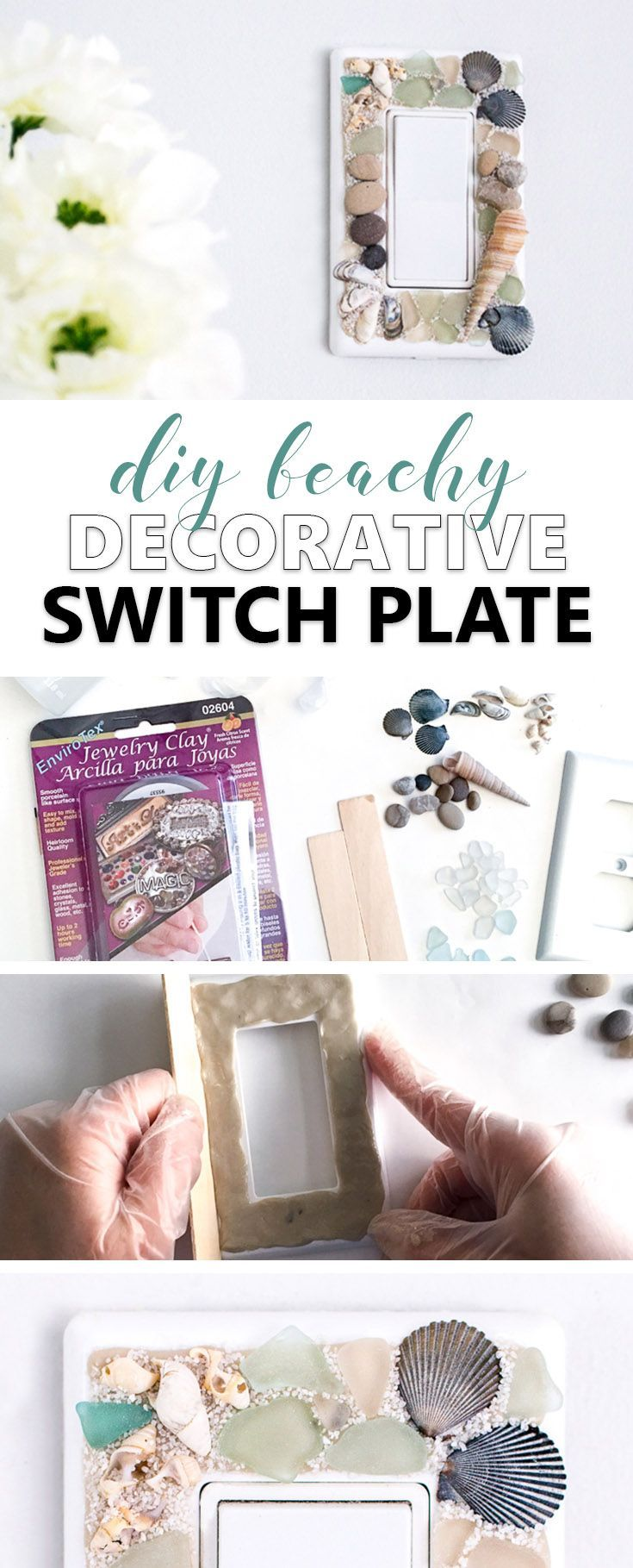 Learn how to make your own beach-themed decorative switch plate ...