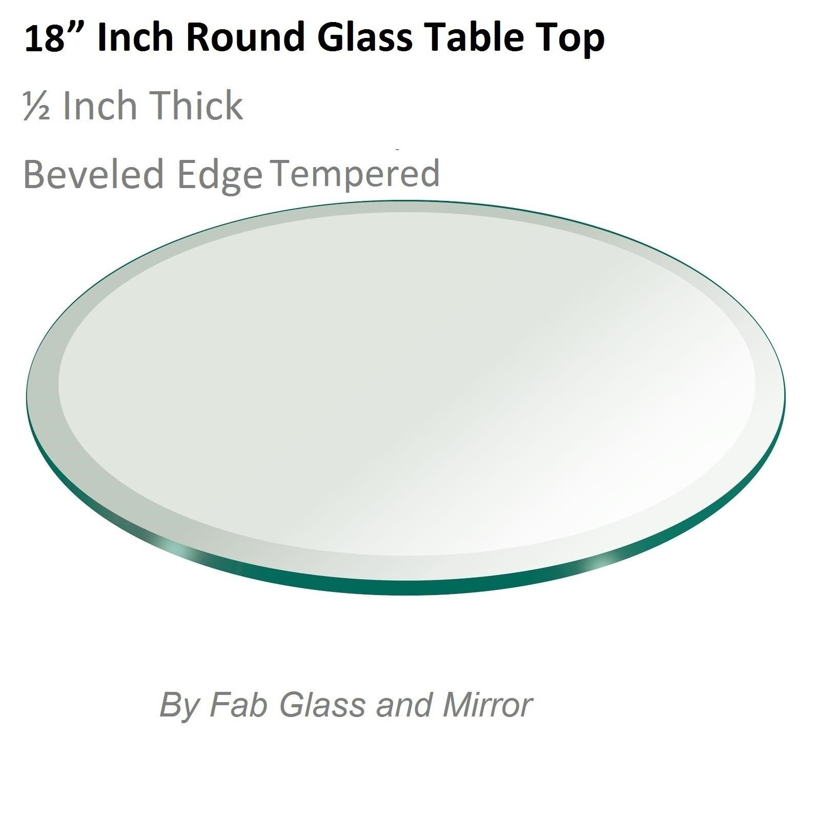 Glass Table Top 18 Inch Round Beveled Edge Tempered Glass Glass Top Table Round Glass Table Tempered Glass Table Top