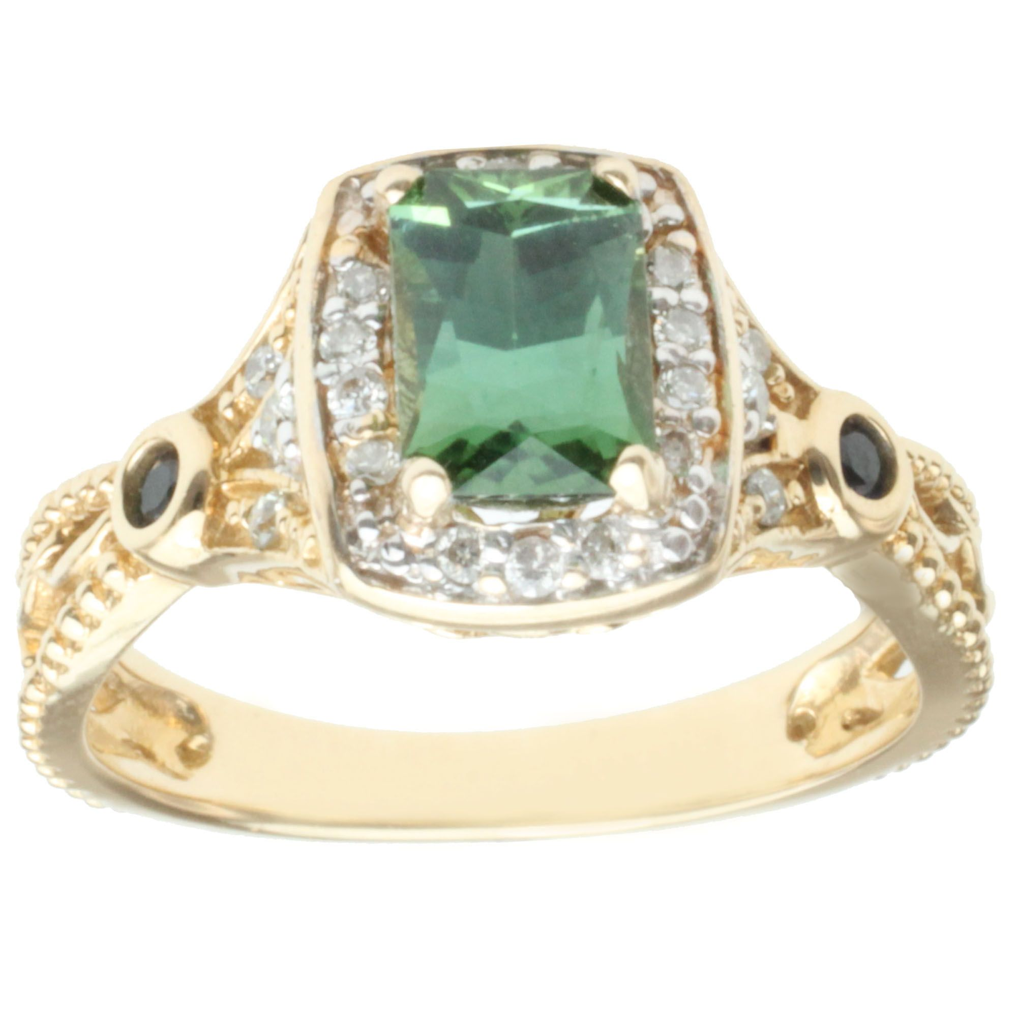 rose engagement green campari teal oval peacock il fullxfull gold eidelprecious by ring diamond rings listing sapphire
