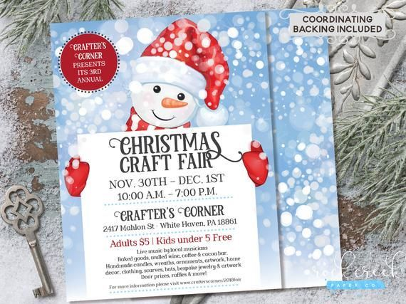 Snowman Craft Fair Flyer, Christmas Craft Fair Flyer, Christmas Bazaar Flyer, Holiday Craft Fair, Digital Event Invitation, INSTANT ACCESS#access #bazaar #christmas #craft #digital #event #fair #flyer #holiday #instant #invitation #snowman