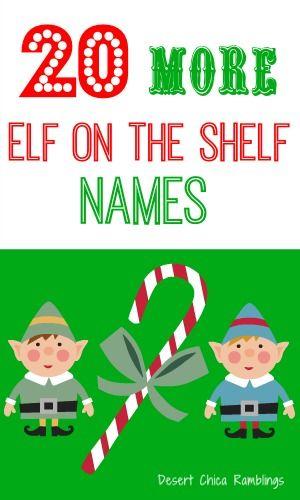 Elf on the shelf Name ideas