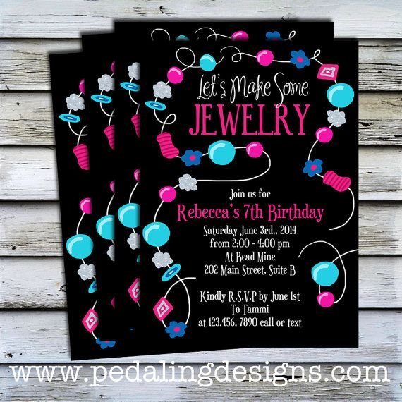 printable invitations jewelry making party jewelry making party