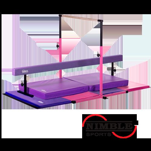 f32d84f35c19 Little Gym Deluxe - Adjustable Horizontal Bar, 8ft Balance Beam with  Adjustable Braces, Gymnastics Folding Mat, and Landing Mat