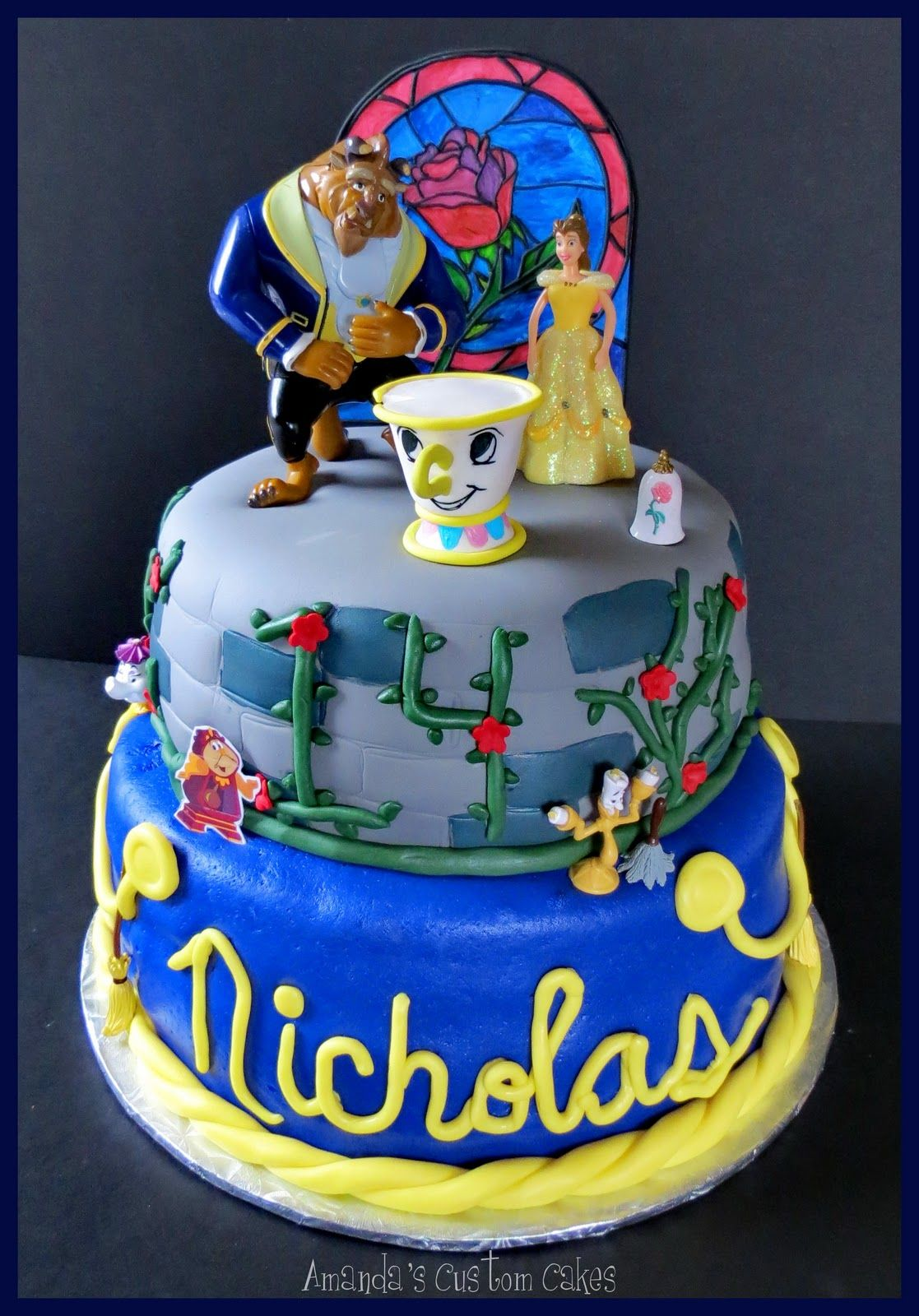 Beauty and the Beast cake I love the fact that there's a