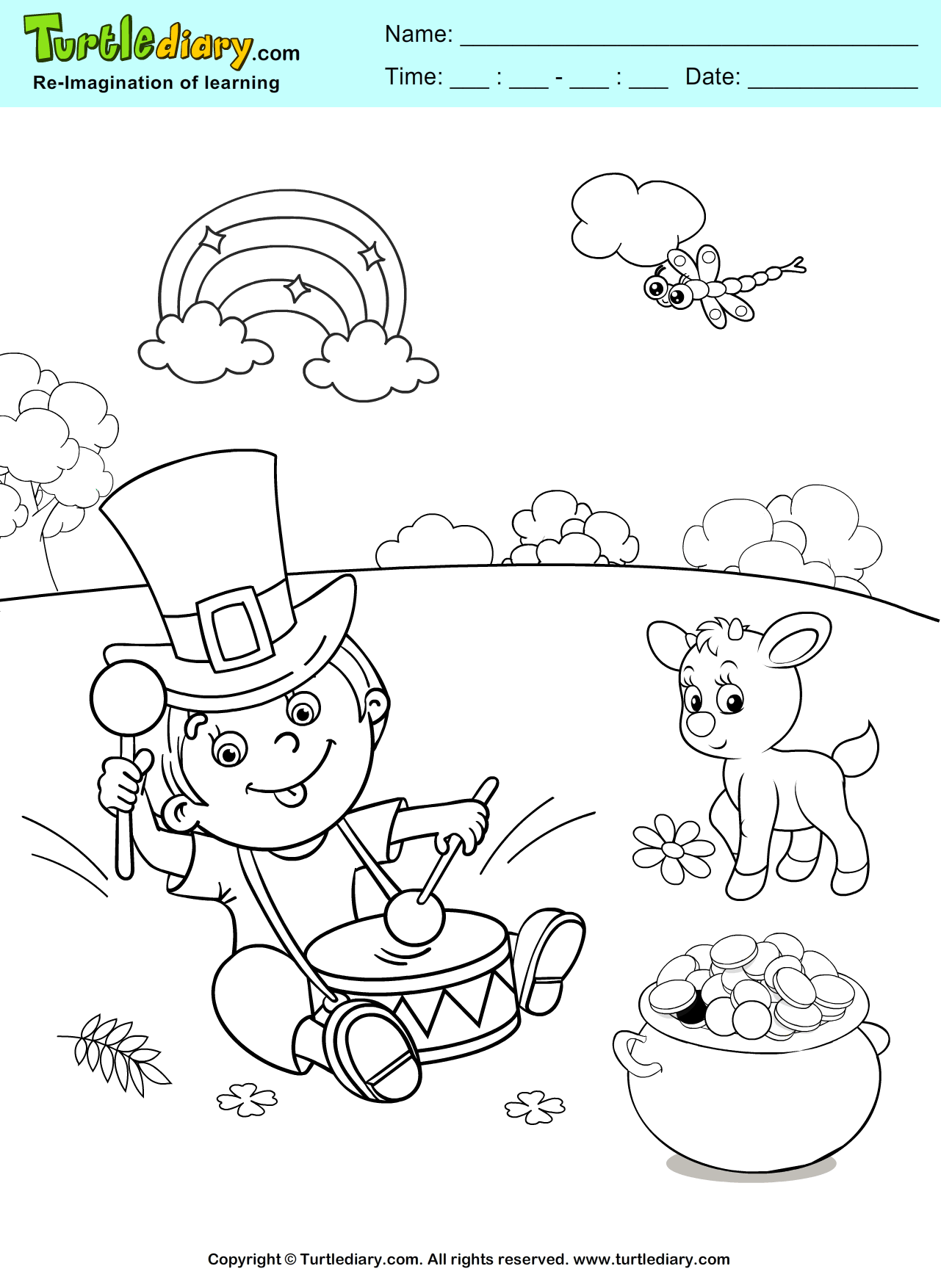 St. Patrick\'s Day Coloring Sheet #ChildEducation #Crafts #Coloring ...