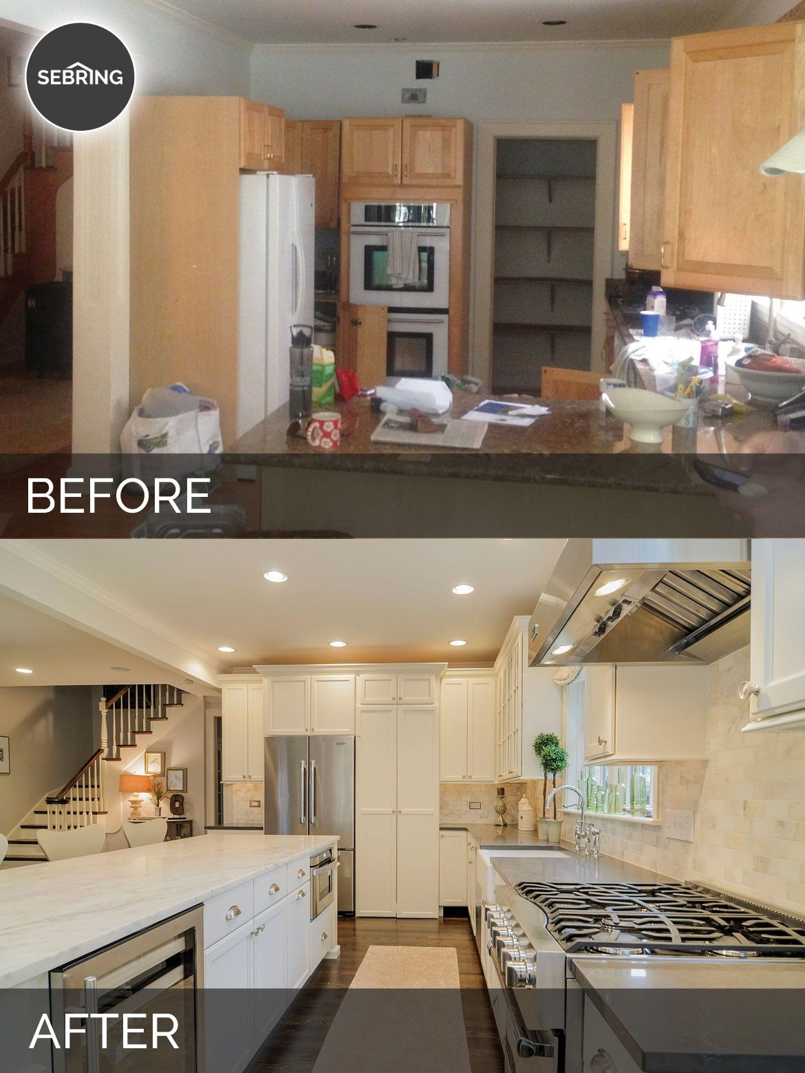 Before After Kitchen Remodel Home Remodeling Kitchen Remodel