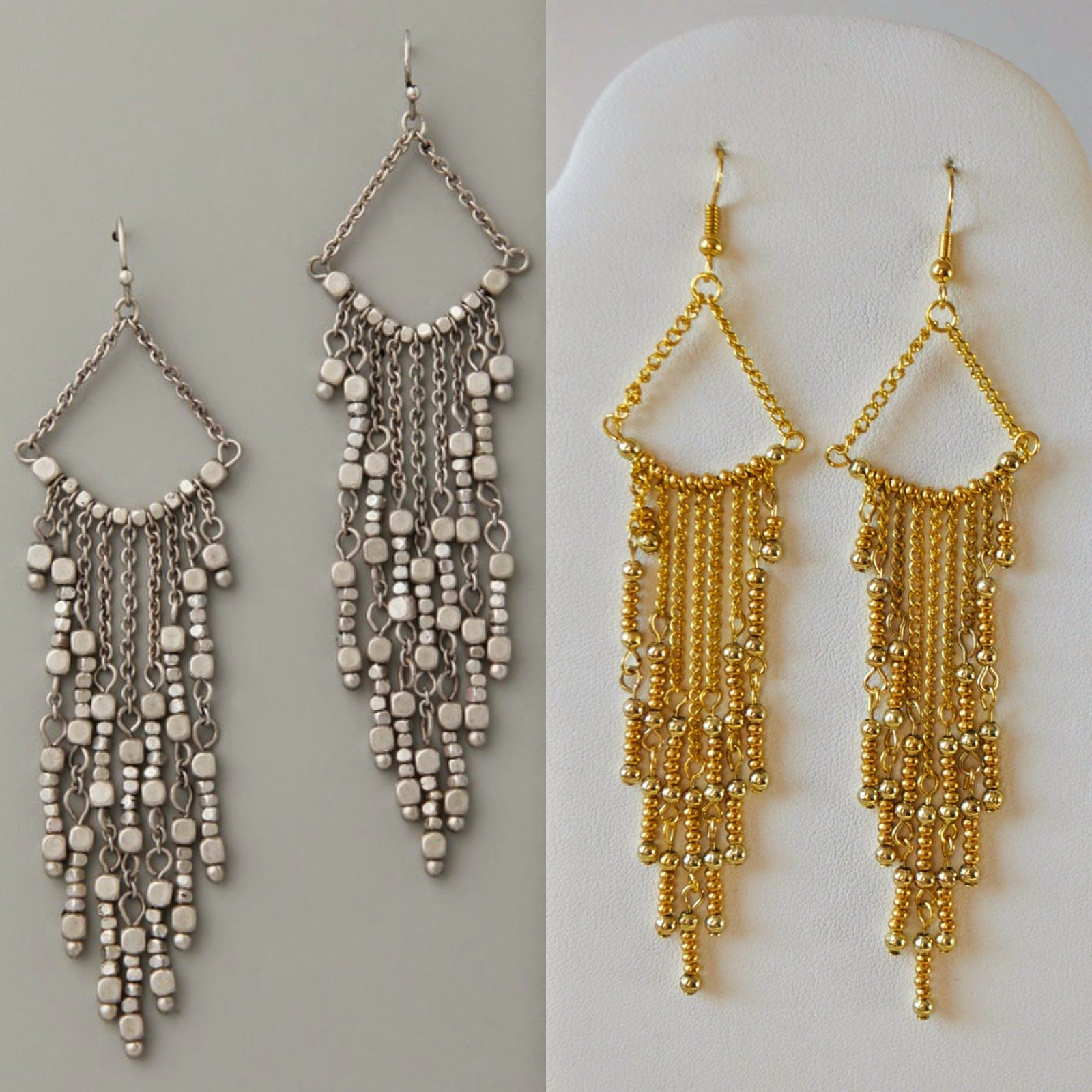 DIY Gold Chandelier Earrings | My Girlish Whims | Jewelry Making ...