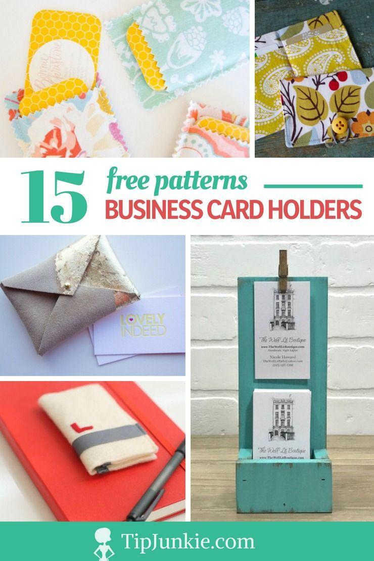 15 Diy Business Card Holders Free Patterns Diy Business Cards Card Holder Diy Business Card Holders
