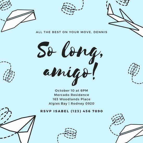 goodbye party invitation wording beautiful customize 2 419