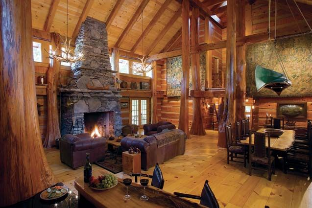 12 Ways To Add Affordable Luxury To Your Log Home Log Homes Cabin Homes Log Cabin Homes