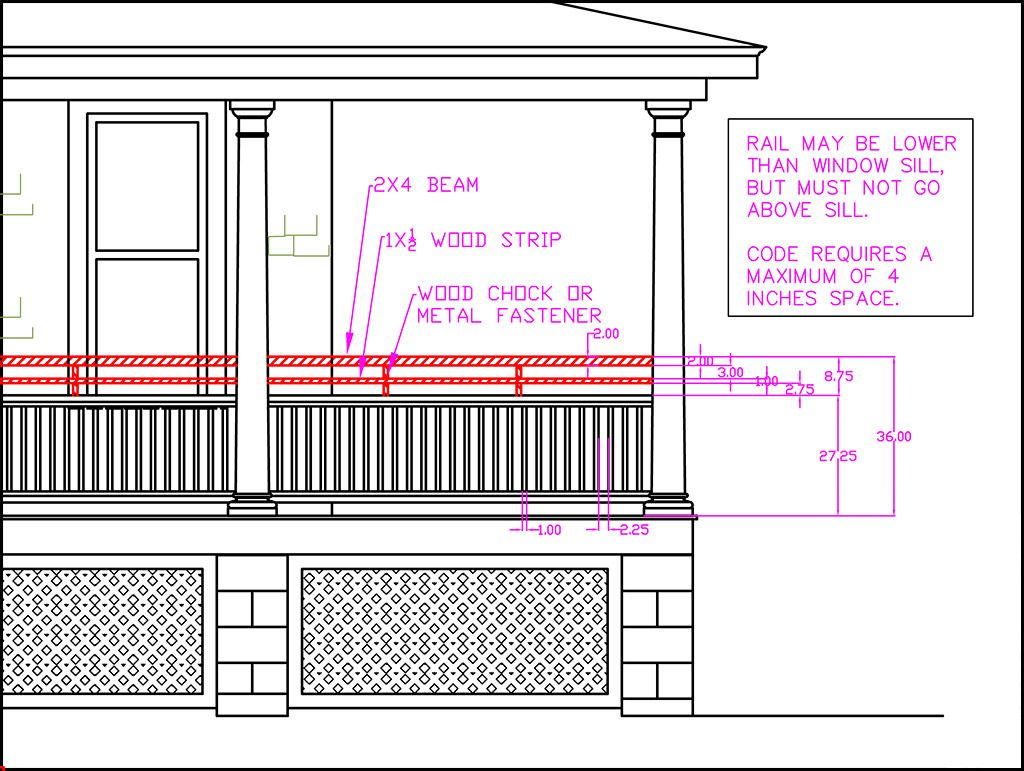 Porch Railing Height For Historic Porch Designs