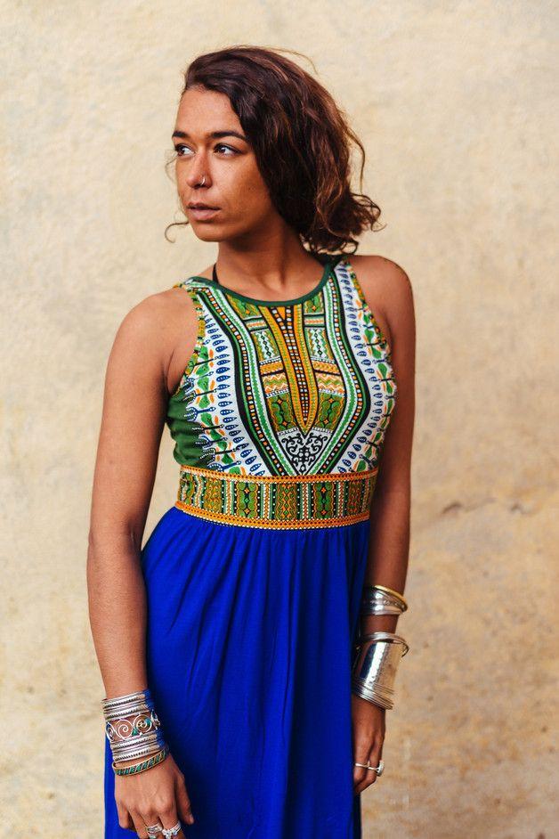 Tribal Long Dress -Boho | Pinterest | afrikanische Stoffe, Kleider ...