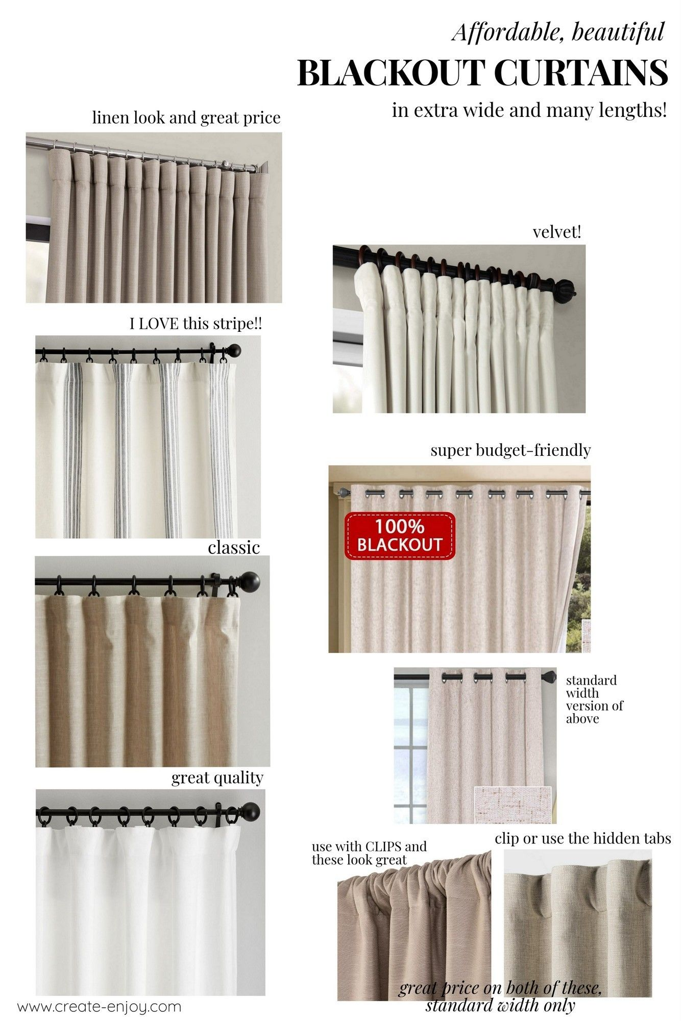 Affordable Blackout Curtains Tips Round Up And Best Sources Create Enjoy In 2020 Blackout Curtains Curtains Wide Curtains