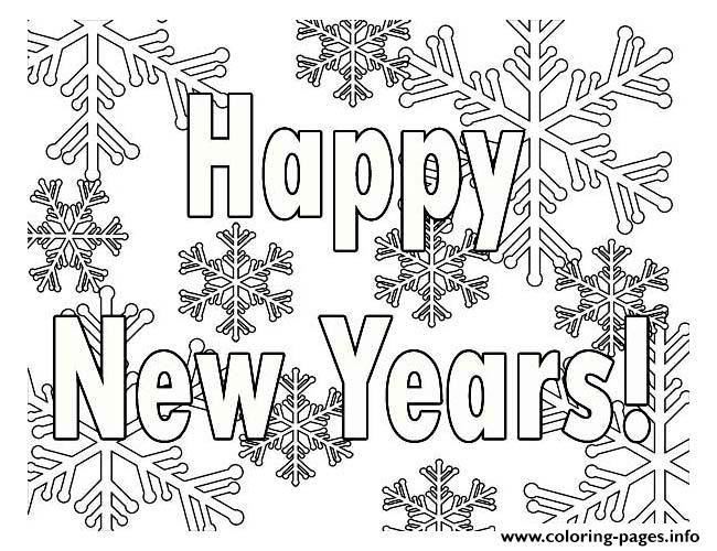 Happy New Year Coloring Pages New Year Coloring Pages Printable Coloring Pages Coloring Pages For Kids