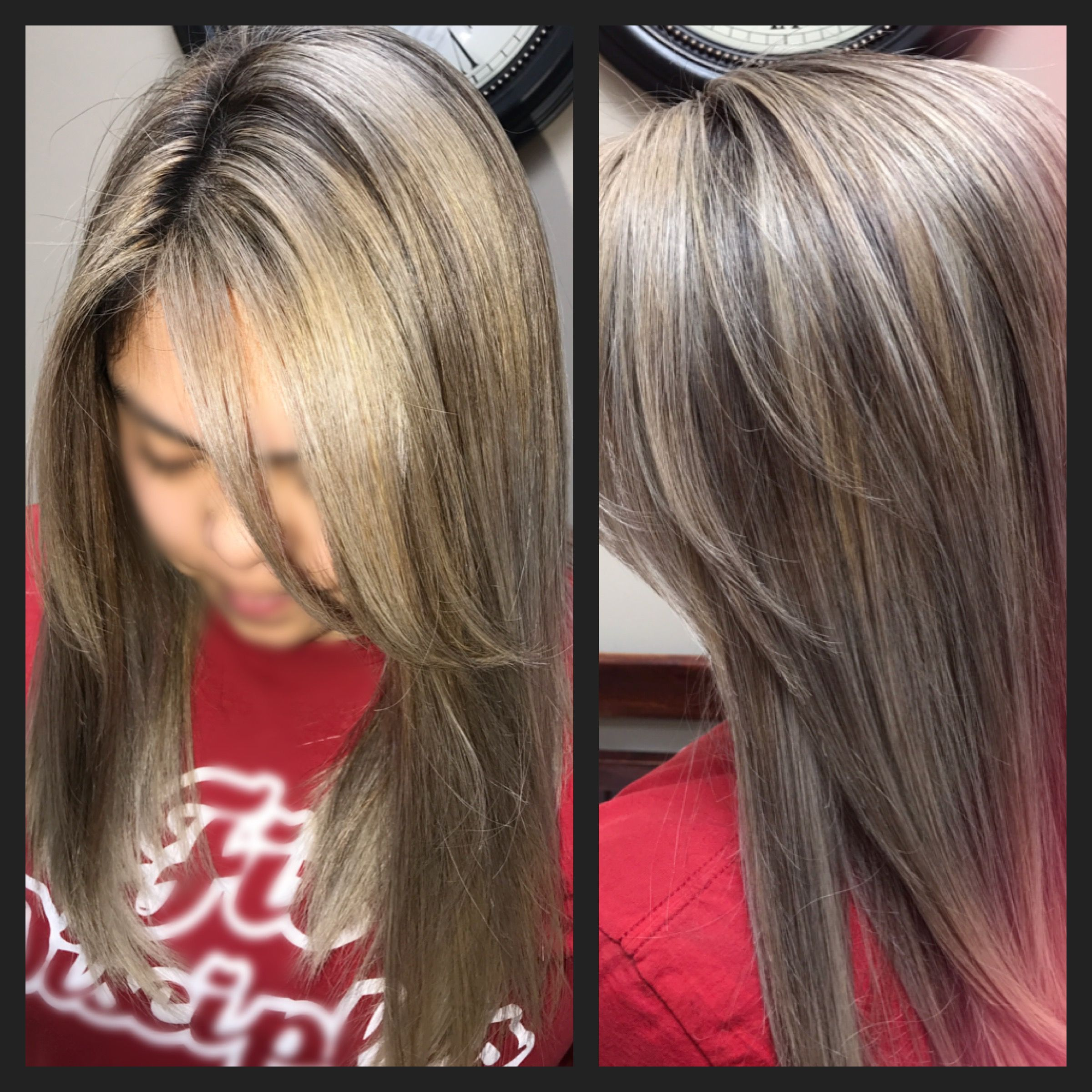 Platinum Blonde On Naturally Black Coarse Hair Used Schwarzkopf