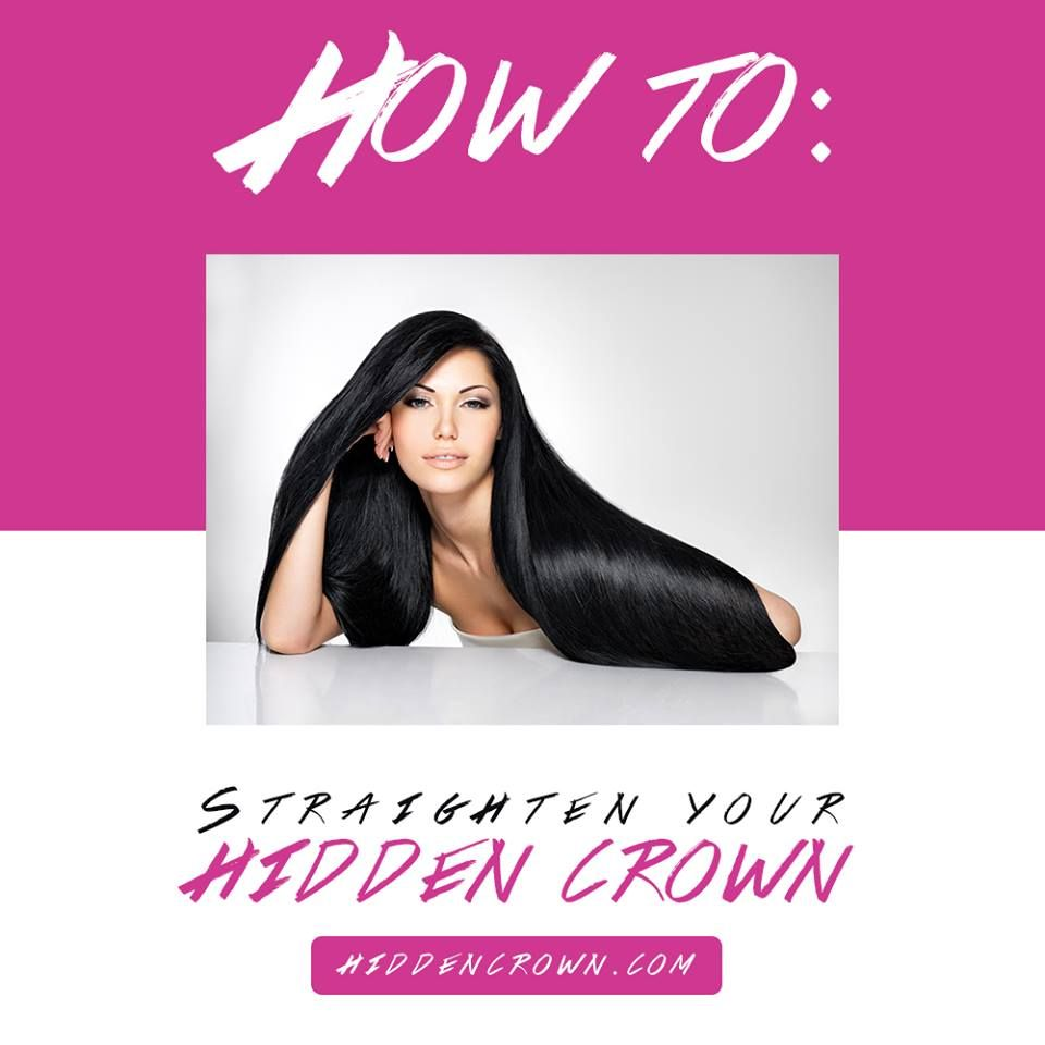 Want to know how to straighten your Hidden Crown the proper way? Read more to find out!  http://bit.ly/21l3Dxj - www.hiddencrownhair.com #hairblog #howto #straightenhair #hiddencrown #hairextensions
