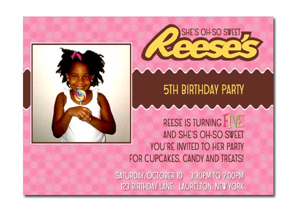 17 Best images about Reeses 5th birthday party – 5th Birthday Party Invitation