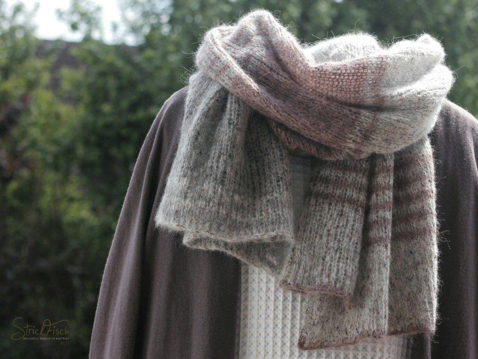 Tweed Schal Stricken Schlicht Zeitlos Knitting Pinterest
