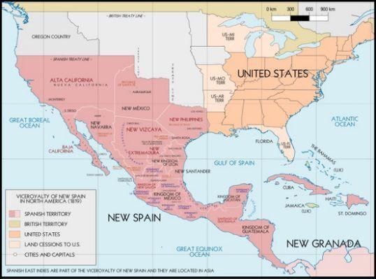map of new spain   de búsqueda   history   Pinterest   Spain