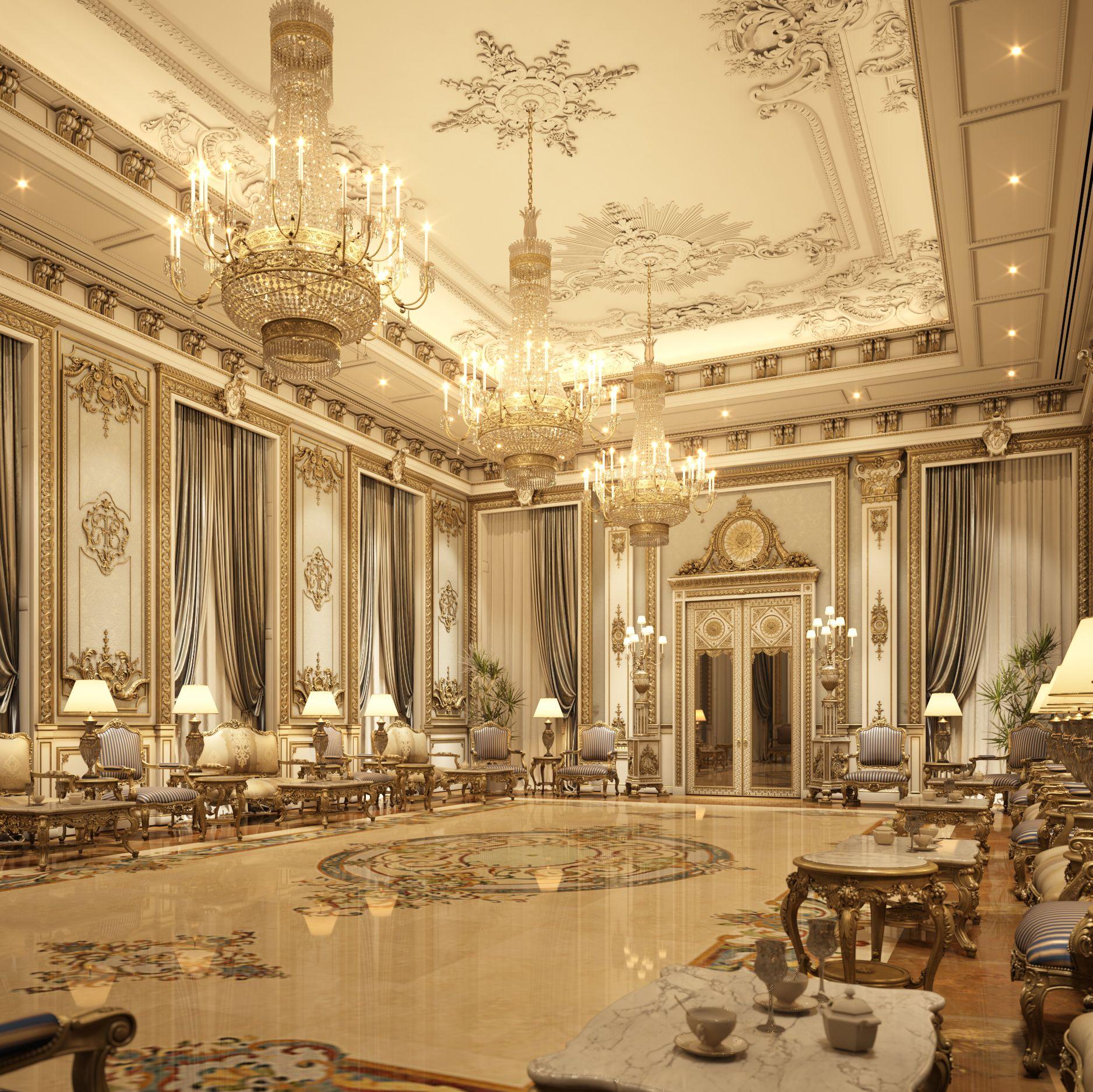 3D interior scene luxury living room - TurboSquid 1238792 ...