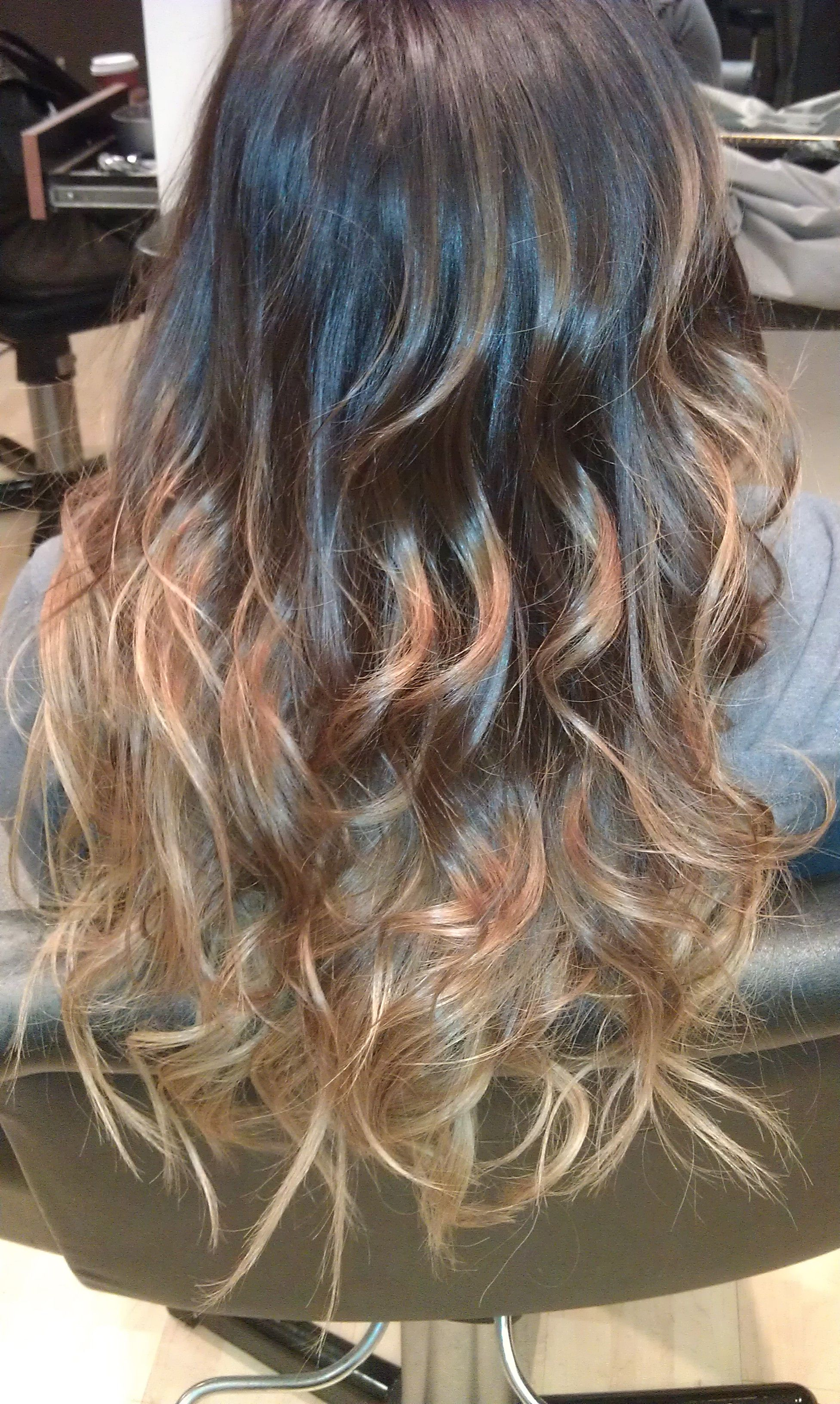 cool tone brown ombre creations