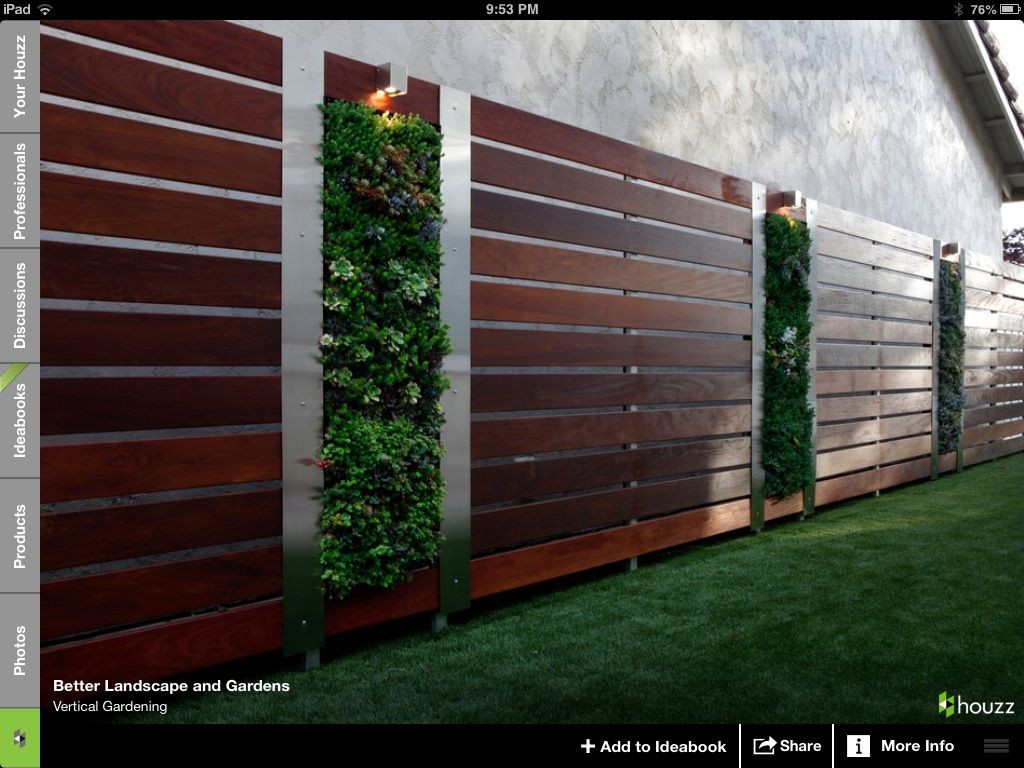 Interesting way of covering a plain exterior wall in front
