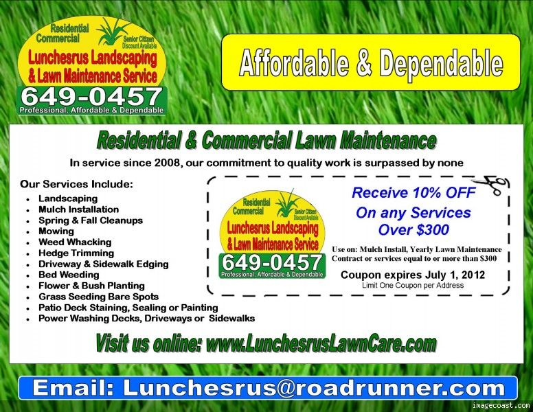 Lawn care flyers new lawn care business flyer template for Garden maintenance flyer template