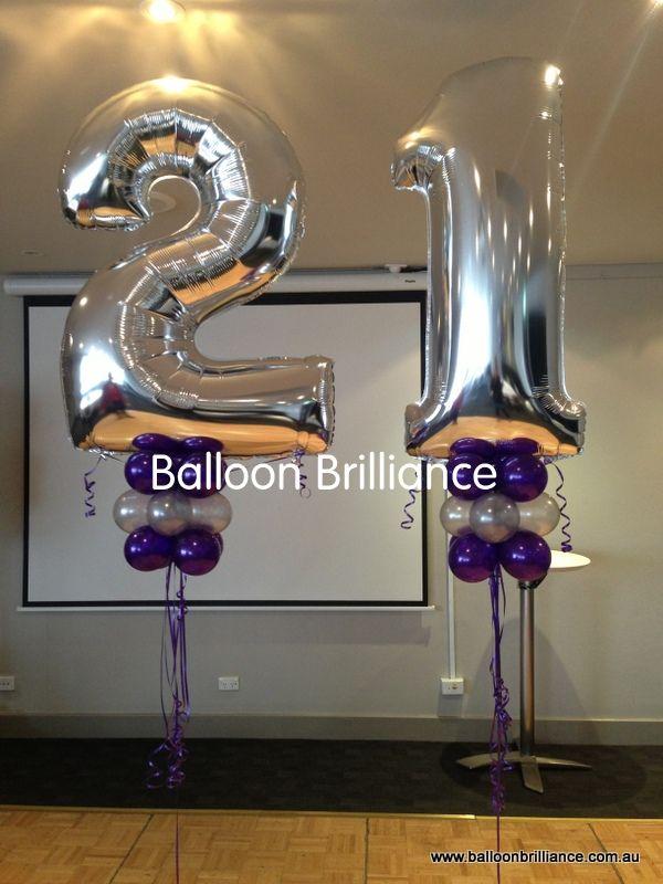 Largenumbers 21 21stbirthday Heliumballoons BalloonBrilliance