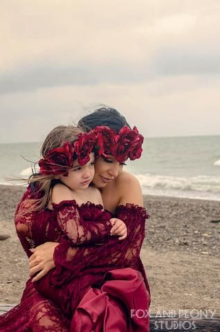 d21cc42b4393a Mommy & Me Gown Set • Valerie & Katie Set • Lace Maternity Gown • Vintage  Lace Dress • Maternity Lingerie Robe • Vintage Bohemian Dress • by Sew  Trendy