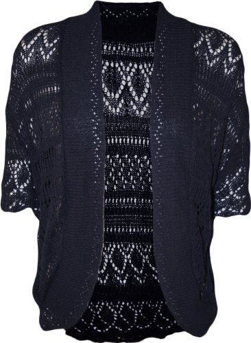 a638078645 Amazon.com  PaperMoon Women s Plus Size Crochet Knitted Short Sleeve  Cardigan  Clothing