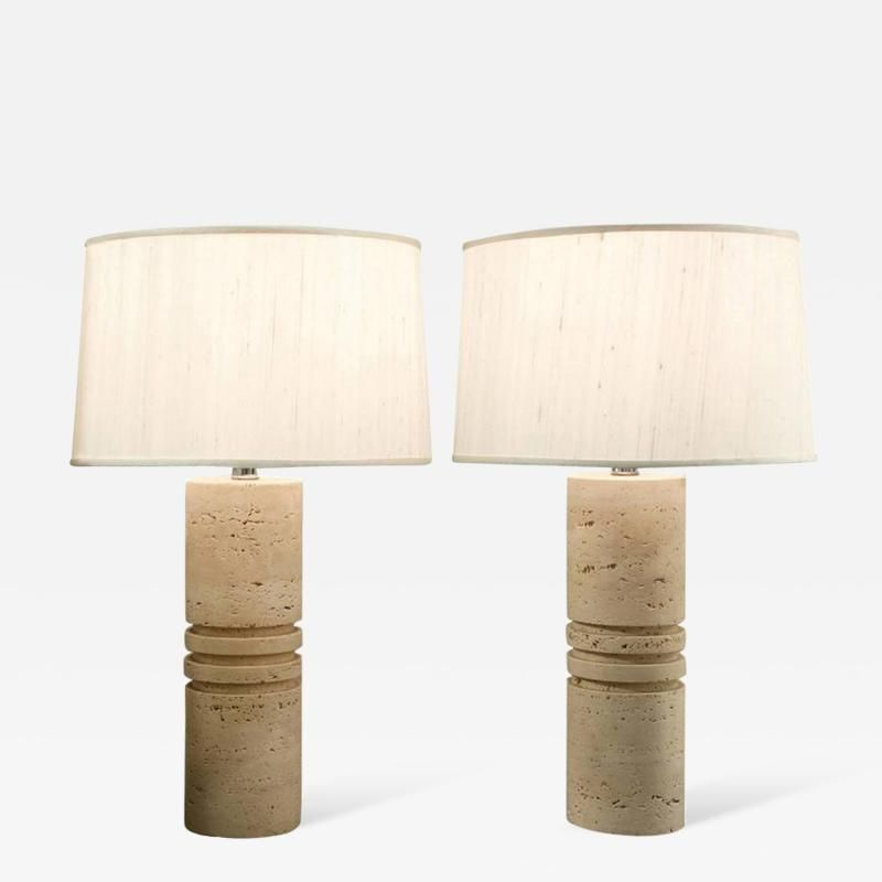 Pair Of Italian Travertine Table Lamps 1960s Lamp Table Lamp Table Lamp Lighting