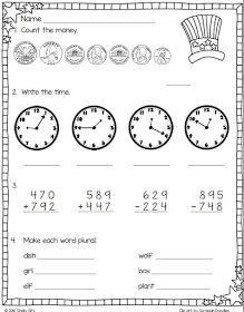 Second grade math | second grade math | Pinterest