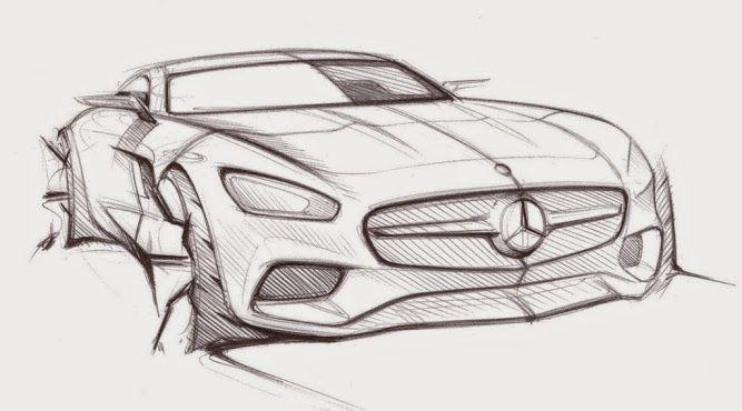 Mercedes Prasentiert Offizelle Design Skizzen Vom Neuen Amg Gt