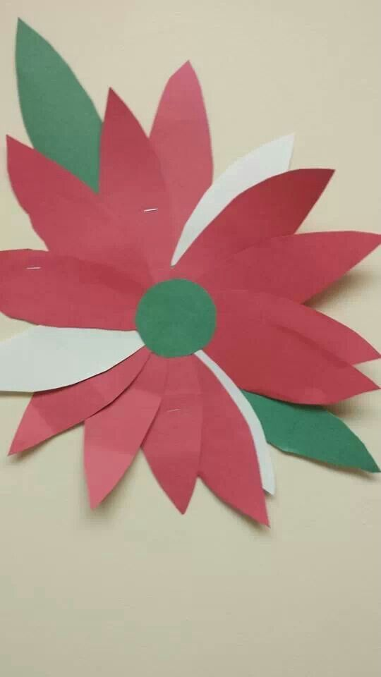 Student made poinsettia...Beautiful touch.