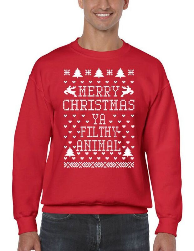 Merry Christmas Ya Filthy Animal Ugly  Cute Forest Green Basic Men/'s T-Shirt