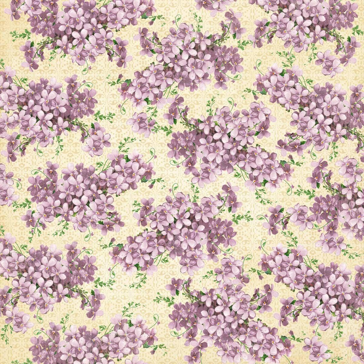 Graphic 45 Sweet Sentiments 12 x 12 Paper Violet Bouquet 2 Sheets   eBay
