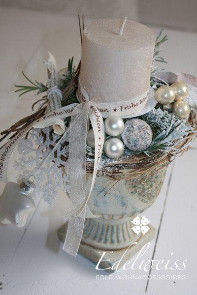 Adventskranz - Adventslicht Wintermärchen Edel - ein Designerstück von EDELWEISS-DEKO bei DaWanda #decodenoelfaitmaison