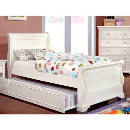 Furniture Of America Nalah Youth Design White Sleigh Bed Twin