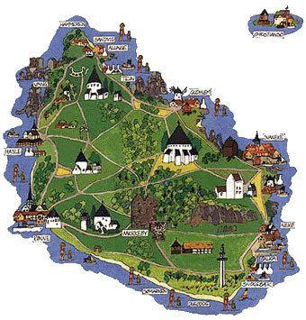 Image detail for Bornholm Island Map Denmark Photo 532995