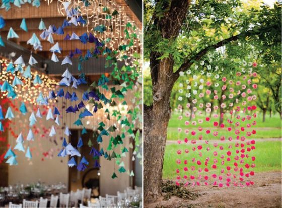 Ceremony Under A Tree Easy Decorationshanging Decorationswedding Decorationsstreamer Decorationsoutdoor