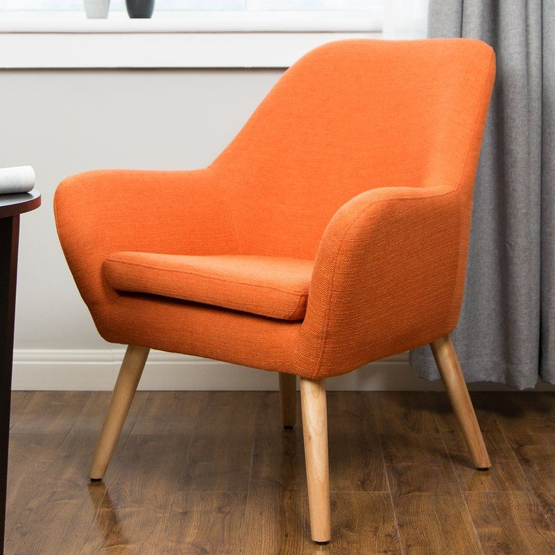 Volmer Mid Century Modern Barrel Chair