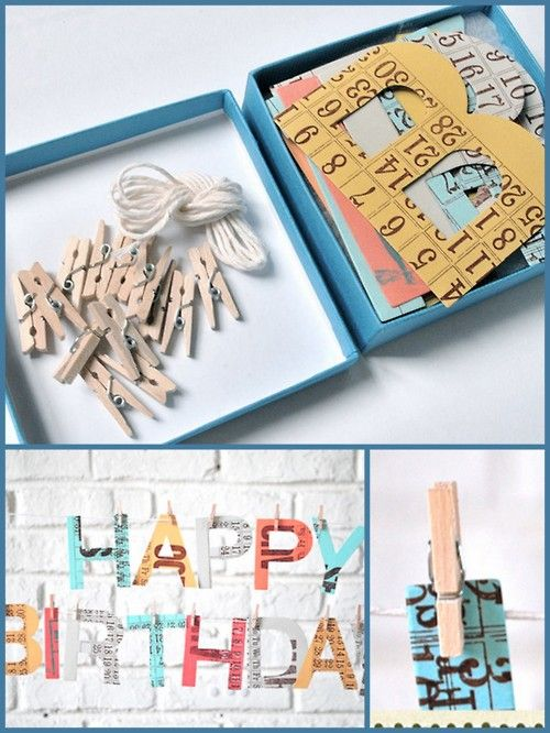 Mail Someone A Happy Birthday Banner In Box This Blog Has TON Of Crafty Ideas